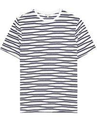 Reiss - White Snoop Stripe Crew-neck T-shirt for Men - Lyst