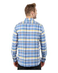 Lacoste | Multicolor Long Sleeve Plaid Poplin Woven Shirt for Men | Lyst