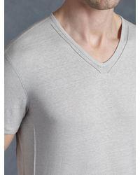 John Varvatos - Gray Pintuck V-neck for Men - Lyst