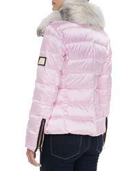 Gorski - Pink Quilted Ski Jacket - Lyst