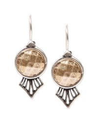 Lucky Brand | Metallic Twotone Antique Drop Earrings | Lyst