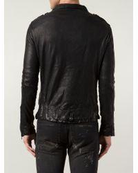 Giorgio Brato | Black Crumpled Biker Jacket for Men | Lyst