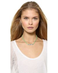 Venessa Arizaga | Green I Love You Highway Necklace - Mint | Lyst