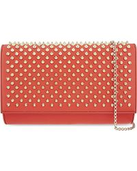 Christian Louboutin - Red Paloma Clutch - Lyst