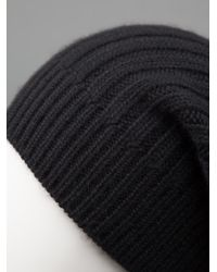 Rick Owens - Black Slouchy Beanie Hat for Men - Lyst