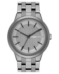 DKNY - Metallic 'park Slope' Bracelet Watch - Lyst