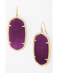 Kendra Scott - 'danielle - Large' Oval Statement Earrings - Purple Jade - Lyst