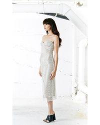 Again - Winston Strapless Dress In White - Lyst
