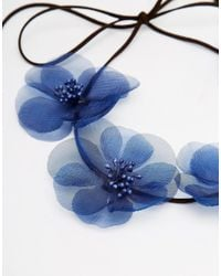 ASOS - Blue Soft Flower Hair Garland - Lyst
