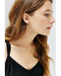 Urban Outfitters | Metallic Roman Charm Hoop Earring | Lyst