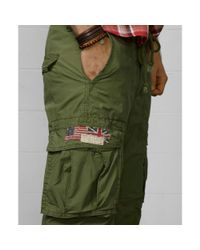 Denim & Supply Ralph Lauren - Green Slimfit Poplin Cargo Pants for Men - Lyst