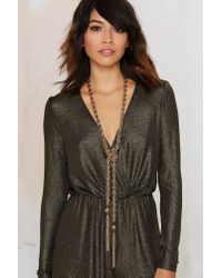 Nasty Gal | Metallic Learn The Ropes Chain Lariat Necklace | Lyst