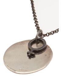 Rosa Maria - Metallic Venus Sign Necklace - Lyst