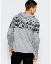 Hollister | Black Overhead Knitted Hoodie for Men | Lyst