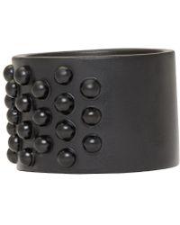 Alexander McQueen - Black Liliputs Ring for Men - Lyst