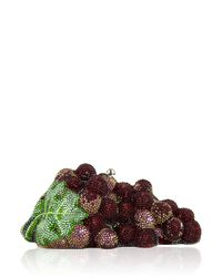 Judith Leiber Couture - Metallic Grape Cluster Crystal Clutch Bag - Lyst