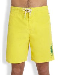 Polo Ralph Lauren | Yellow Sanibel Swim Trunks for Men | Lyst