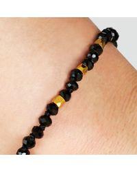 John Lewis   Black Gold Plated Agate Bead Friendship Bracelet   Lyst