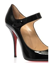 Christian Louboutin - Black Neo Pensee 100Mm Patent-Leather Pumps - Lyst