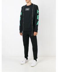 Hood By Air - Black Logo Print Zip Sweatshirt for Men - Lyst