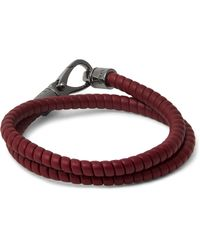 Tod's | Purple Leather Wrap Bracelet for Men | Lyst