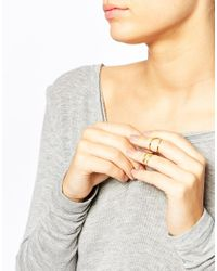 Gorjana | Metallic Gold Plated Wrap Midi Ring Set | Lyst