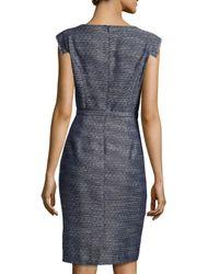 Kay Unger | Gray Tweed Sheath Dress | Lyst