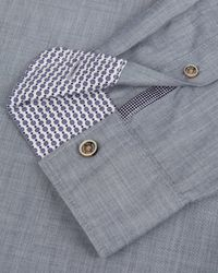 Ted Baker - Blue Cotton Roll Sleeve Shirt for Men - Lyst