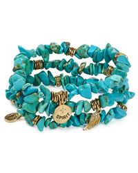 Sequin - Blue Color Karma Spirit Feather Bracelets, Set Of 3 - Lyst