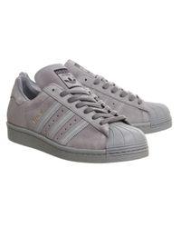 Adidas Originals - Gray Superstar 80s - Lyst