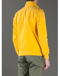 Baracuta - Yellow Funnel Neck Jacket for Men - Lyst