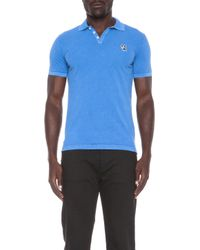 DSquared² - Blue Embroidered Cotton Polo - Lyst