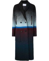 T By Alexander Wang - Black Degradé Long Coat - Lyst