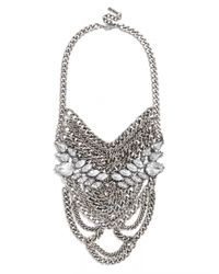 BaubleBar - Metallic Eleanor Chain Bib - Lyst