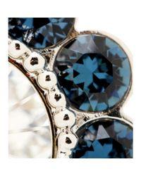 Miu Miu | Blue Crystal Clip-On Earrings | Lyst