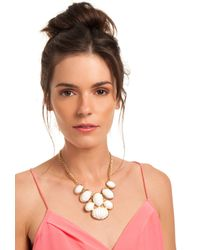 Trina Turk - White Cabochon Frontal Necklace - Lyst