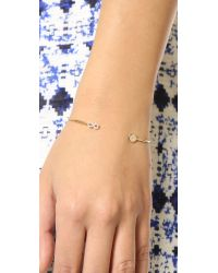 Tai - Metallic Mini Infinity & Stone Bracelet - Moonstone/gold - Lyst