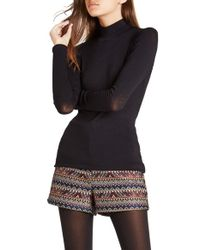 BCBGeneration - Black Turtleneck Jersey Top - Lyst