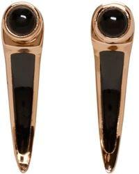 Pamela Love | Black Rose Gold And Onyx Earrings | Lyst