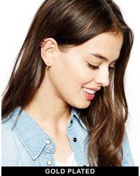 Maria Francesca Pepe | Metallic Stone Encrusted Ear Cuff | Lyst