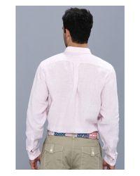 Vineyard Vines   Pink Lake Worth Stripe Linen Shirt for Men   Lyst