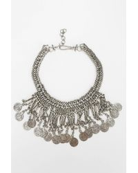 Urban Outfitters - Metallic Metal Mesh Coin Necklace - Lyst