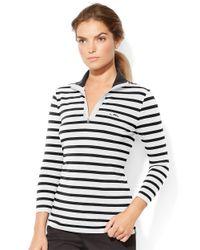 Lauren by Ralph Lauren | Black Striped Pullover | Lyst