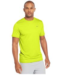 Nike | Yellow Challenger Dri-fit Mesh T-shirt for Men | Lyst