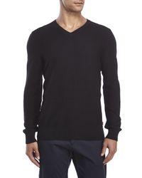 Izod - Black Fine Gauge V-Neck Sweater for Men - Lyst