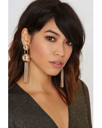 Nasty Gal | Metallic Bring It Dome Earrings | Lyst