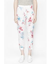 French Connection | Multicolor Genivieve Floral Capri Trousers | Lyst