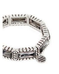 Philippe Audibert | Gray 'zoey' Crystal Elastic Bracelet | Lyst