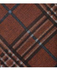 Cole Haan   Brown Benson Printed Plaid Tie for Men   Lyst
