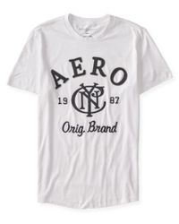 Aéropostale | White Aero Nyc 1987 Logo Graphic T for Men | Lyst